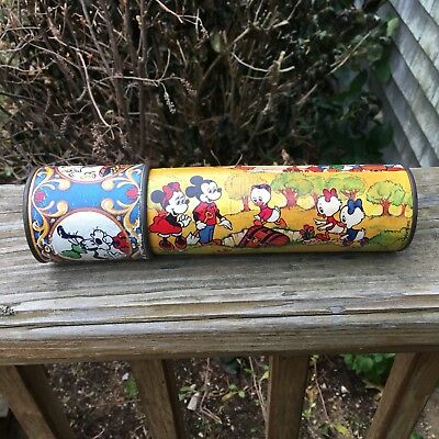 Vintage Walt Disney Productions Kaleidoscope Toy Mickey Mouse Donald Duck Goofy