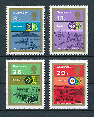 Guernsey 246-49 MNH, Scouts, 1982
