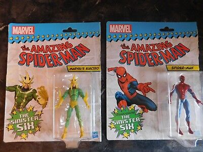 Marvel Universe Spider-Man VS Sinister Six Spider-Man & Electro Figures Lot Of 2