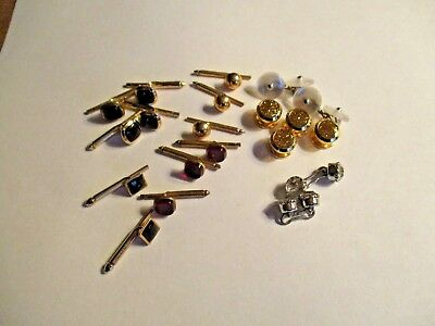 Mixed lot of Men's Jewelry, Cufflinks, Tuxedo Buttons and Button Studs, Glass ++