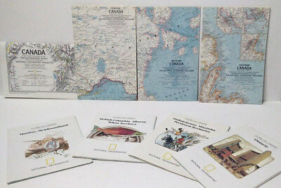 Lot of 8 Vintage National Geographic Maps Close-Up Canada 1972- 1980 Mint