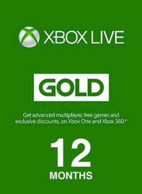 Xbox Live GOLD Subscription Card XBOX LIVE GLOBAL 12 Months united state