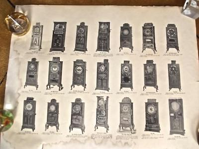 Authentic 1900s Sicking Manufacturing Co Nickel Slot Machines Poster Ad w/Prices