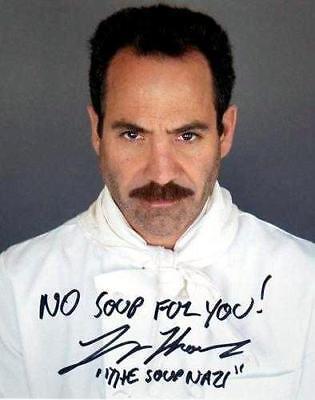 Soup Nazi autographed 8x10 Photo Signed by the Actor Larry Thomas from Seinfeld