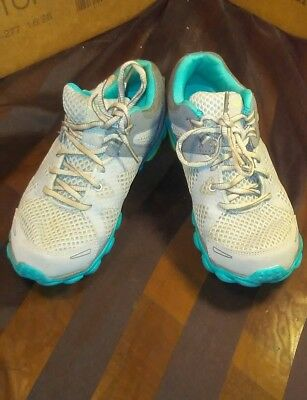 6b219ad497a Champion C9 Performance Fit Women s Running Shoes Sneakers Gray Lime Aqua sz  6.5
