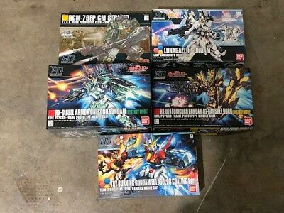Lot of 5 Bandai Gundam HG High Grade 1/144 Model Kits