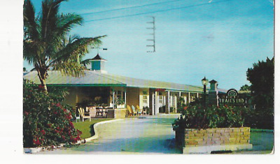 1955 Trail's End Motor Hotel Naples On The Gulf Near St Petersburg Fla Pc