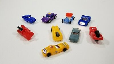 Vintage lot of 9 Plastic Toy Cars (5) JVZCO Plus 4 Everyready, Dune Buggy & more