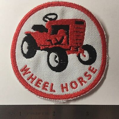 Wheel Horse C100 Garden Tractor Embroidered Emblem Iron-On Sew-On Patch