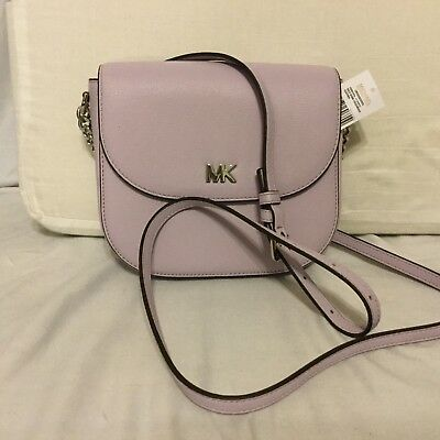 6dc4d02234d5 MICHAEL KORS HALF Dome Crossbody Leather purple NWT -  56.99