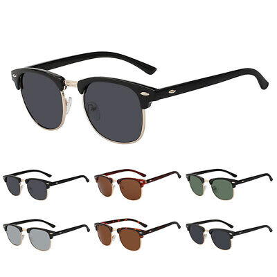 Vintage Retro Half Frame Sunglasses Men Women Ladies Designer Rimless Glasses