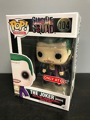 Funko Pop The Joker Boxer Target Exclusive Suicide Squad #104 NEW