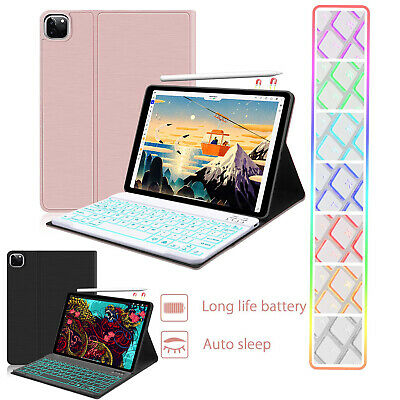 """For iPad Pro 11"""" Inch 2018 Magnetic Smart Folio Case+Pencil Charging + Keyboard"""