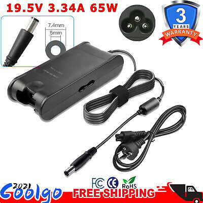 New For Dell 65W Ac Adapter Charger La65Nm130 19.5V 3.34A With Cable