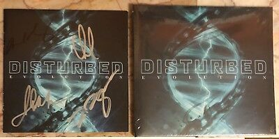 Disturbed Signed Autographed Evolution CD Booklet With Brand New CD
