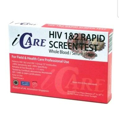 Rapid HIV 1&2 test kit - test private and easley