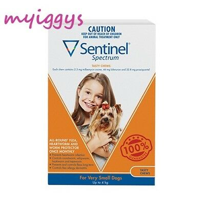 Sentinel Spectrum for Very Small Dogs up to 4kg Brown (Orange) 1, 3 Pack 6 Pack