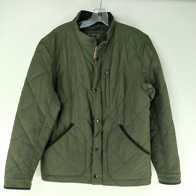 J.Crew Sussex Men's Size M Quilted Primaloft Jacket Coat Corsican Forest Olive