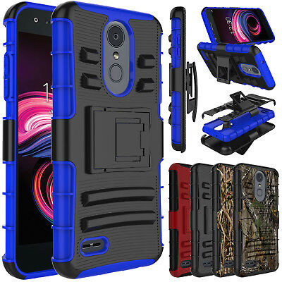 For LG Aristo 3/Tribute Empire Phone Case Shockproof Hybrid TPU Clip Stand Cover