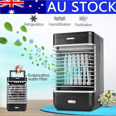 AU Portable Mini Air Conditioner Cool Cooling For Bedroom Artic Cooler Fan