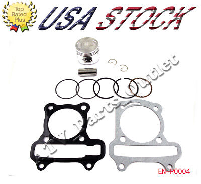 39mm Complete Piston Kit Ring Spring Pin Head Gasket Set for GY6 50 50cc scooter