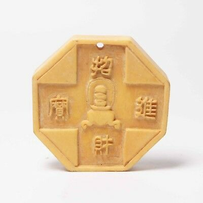 Qing Dynasty Shell Hand Carving Pendant Lucky Amulet Chinese Antiques Old Art
