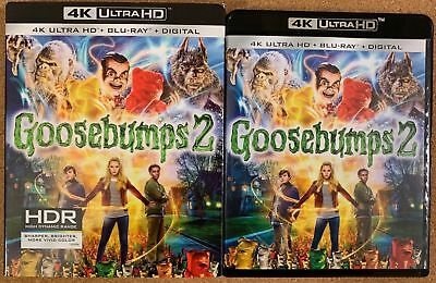 Goosebumps 2 4K Ultra Hd Blu Ray 2 Disc Set + Slipcover Sleeve Free Shipping