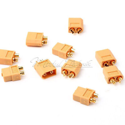 1/2/5/10Pairs Male & Female XT60 Bullet Connectors Plugs for RC Lipo Battery