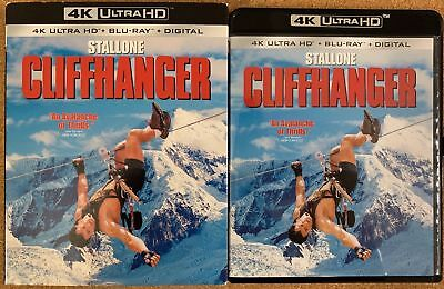 Cliffhanger 4K Ultra Hd Blu Ray 2 Disc Set + Slipcover Sleeve Free Shipping