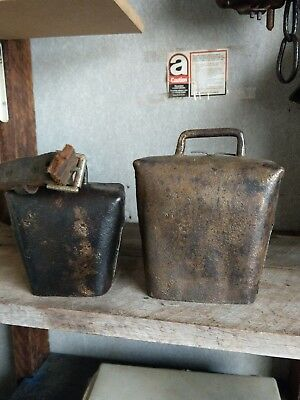 2 Antique Condamine Cow Bells  Christian Anderson
