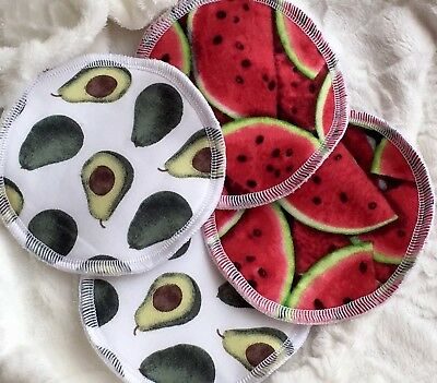 2 Pairs Waterproof Washable & Reusable Nursing Pads Breastfeeding Pads Homemade