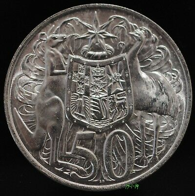 Iconic Australian 1966 Round Fifty 50 Cent Silver Bullion Coin, 80% Silver. #5