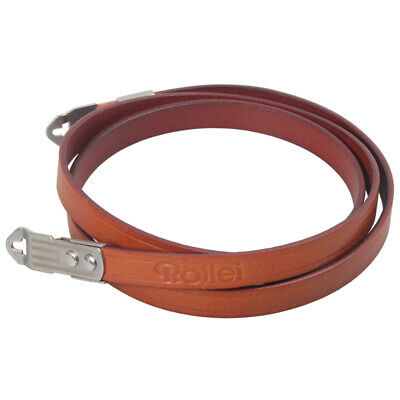 Genuine Leather Shoulder Strap With Lugs For Rolleiflex 2.8C 2.8D 2.8GX 120 TLR