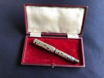 silver filigree fountain pen by waterman and sons ltd 1922