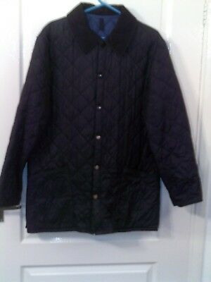 Mens Barbour Blue Quited Jacket Country Casual Size Medium