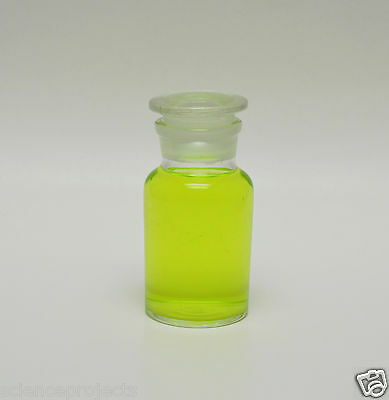 REAGENT BOTTLE JAR 125mL 125 mL WIDE MOUTH CLEAR W/ GLASS STOPPER APOTHECARY