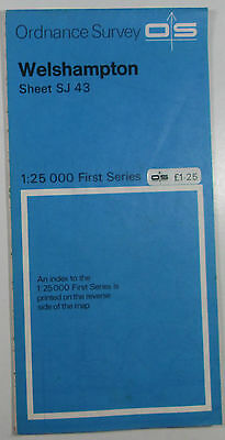1957 old vintage OS Ordnance Survey 1:25000 First Series Map SJ 43 Welshampton