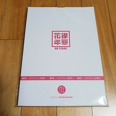 BTS 花樣年華 HYYH On Stage Official Program Book
