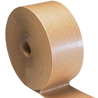 """Brown Gummed Tape 3"""" x 450' Reinforced Economy Grade Water Activated 30 Rolls"""