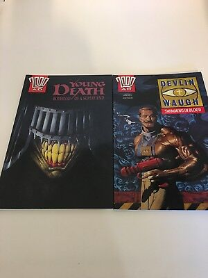 2000 AD Devlin Vaugh swimming in blood, Young Death boyhood Graphic Novels