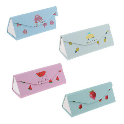 Travel Portable Foldable Spectacle Sunglass Eyeglass Case Storage Pouch Box
