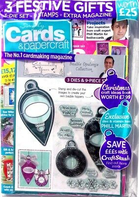 Simply Cards &  Papercraft Magazine #183 - 2018 ~ With 3 Festive Gifts ~