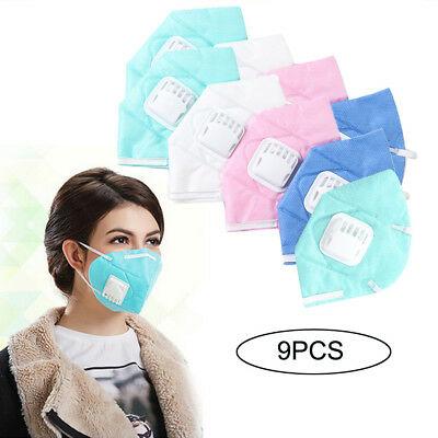 9X Unisex Anti-Pollution Masks Protection N95 Non-Woven Outdoor Fabric Dust Mask