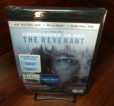 Revenant (4K UHD+Blu-ray+HD Digital)NEW-Free First Class Shipping with Tracking