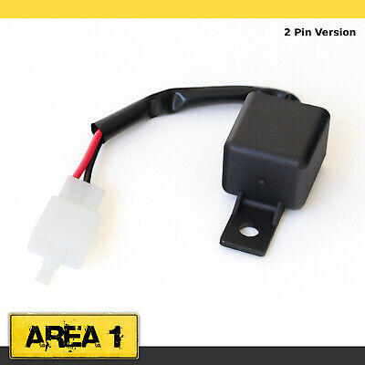 Universelles Motorrad Roller Blinkerrelais 2 Pin Digital (12V) für LED Blinker