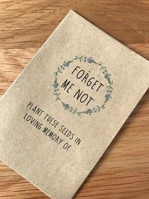 Seed Packet Envelope Favour Memory Funeral Forget Me Not Vets Pet Memorium