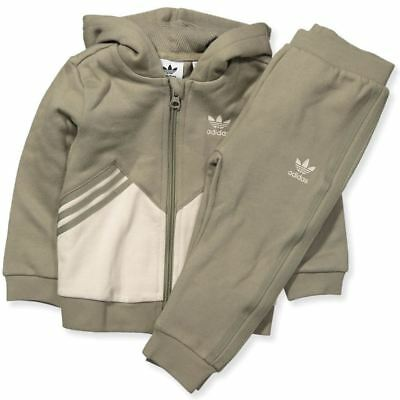 adidas Infants Fleece Hoodie Tracksuit Set CE1144~Originals~Size 0-3mth to 3-4Y