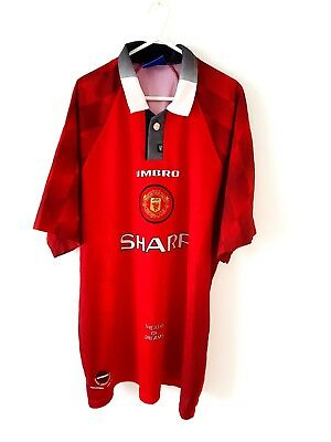 Manchester United Home Shirt 1996. XL. Umbro. Red Adults Man Utd Football Top.