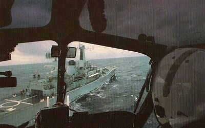 AK FALKLAND TASK FORCE - Diomede seen from the cockpit of a Wasp Helicopter