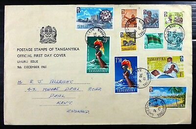 TANZANIA 1961 to 20/- Official FDC BH339